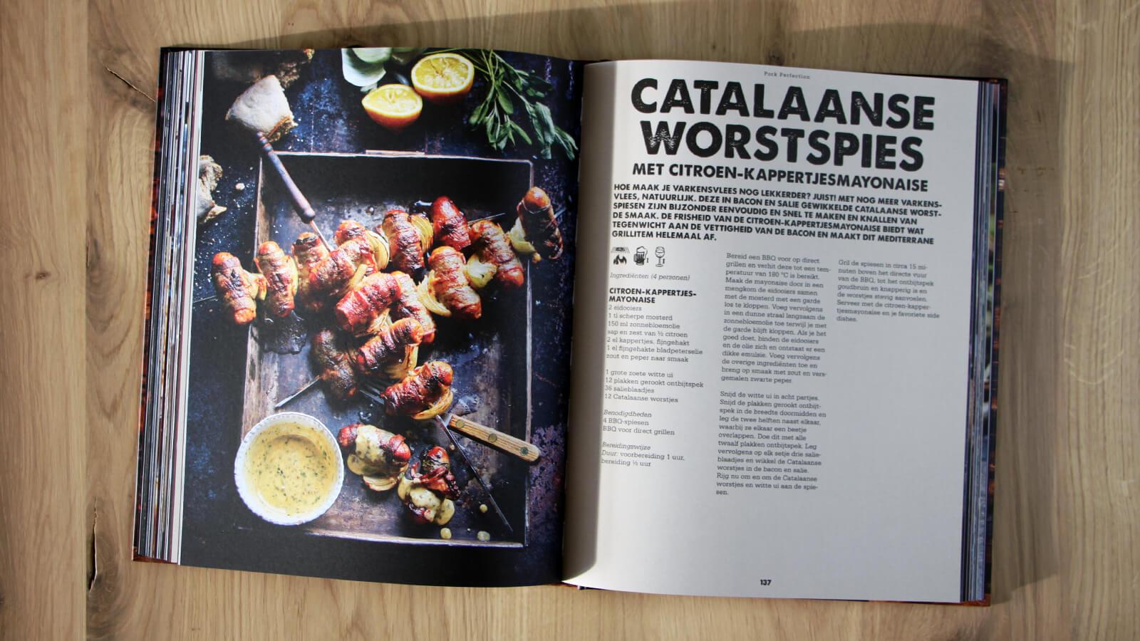 Dit recept voor Catalaanse Worst Spiesen is tot nu mijn favoriete recept uit dit boek.