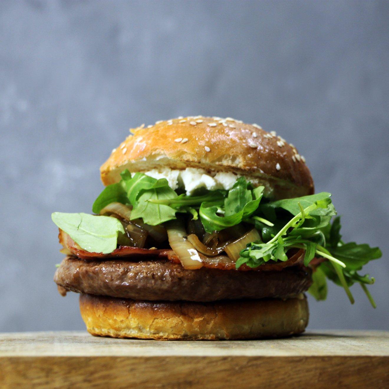 Bourbon Burgers met Geitenkaas