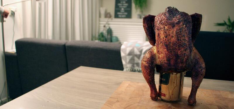 Volg dit recept voor 's werelds beste Bierblik Kip