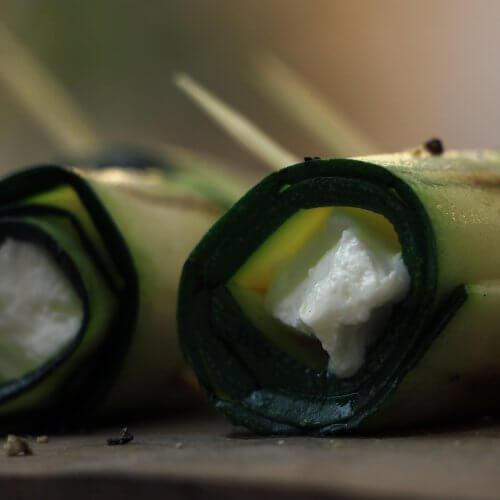 Recept: Courgette Geitenkaas Rolletjes