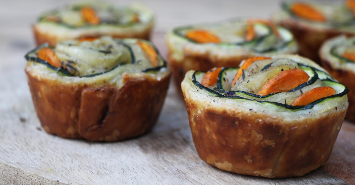 Met een muffinvorm bak je deze prachtige groente rozen gewoon op de BBQ!
