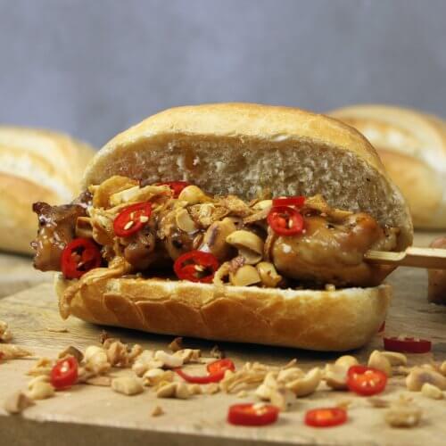 Barbecue Recept: Broodje Kipsaté