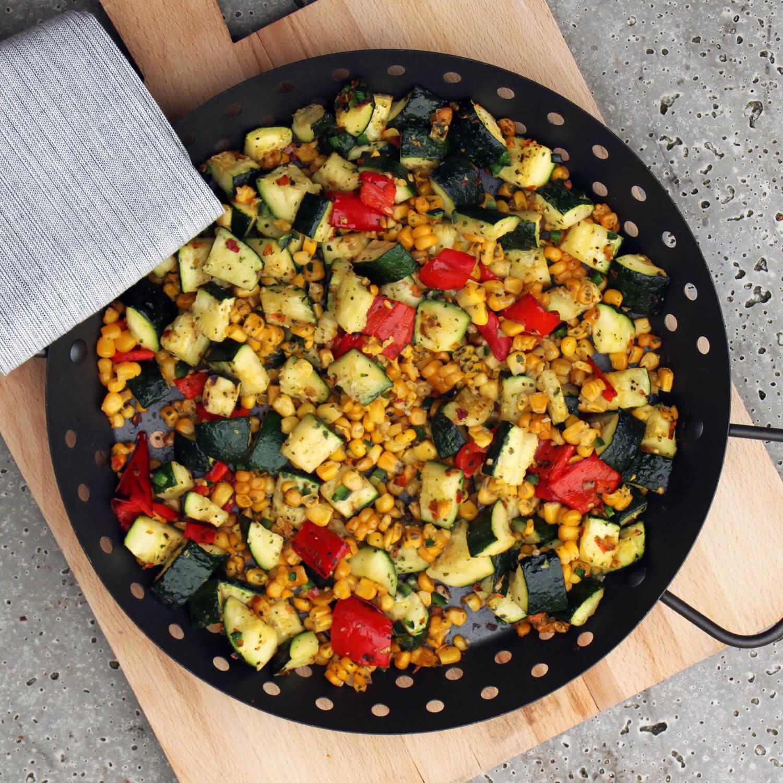 Op zoek naar lekkere groenten van de BBQ? Ga voor deze Gegrilde Mexicaanse Groenten!