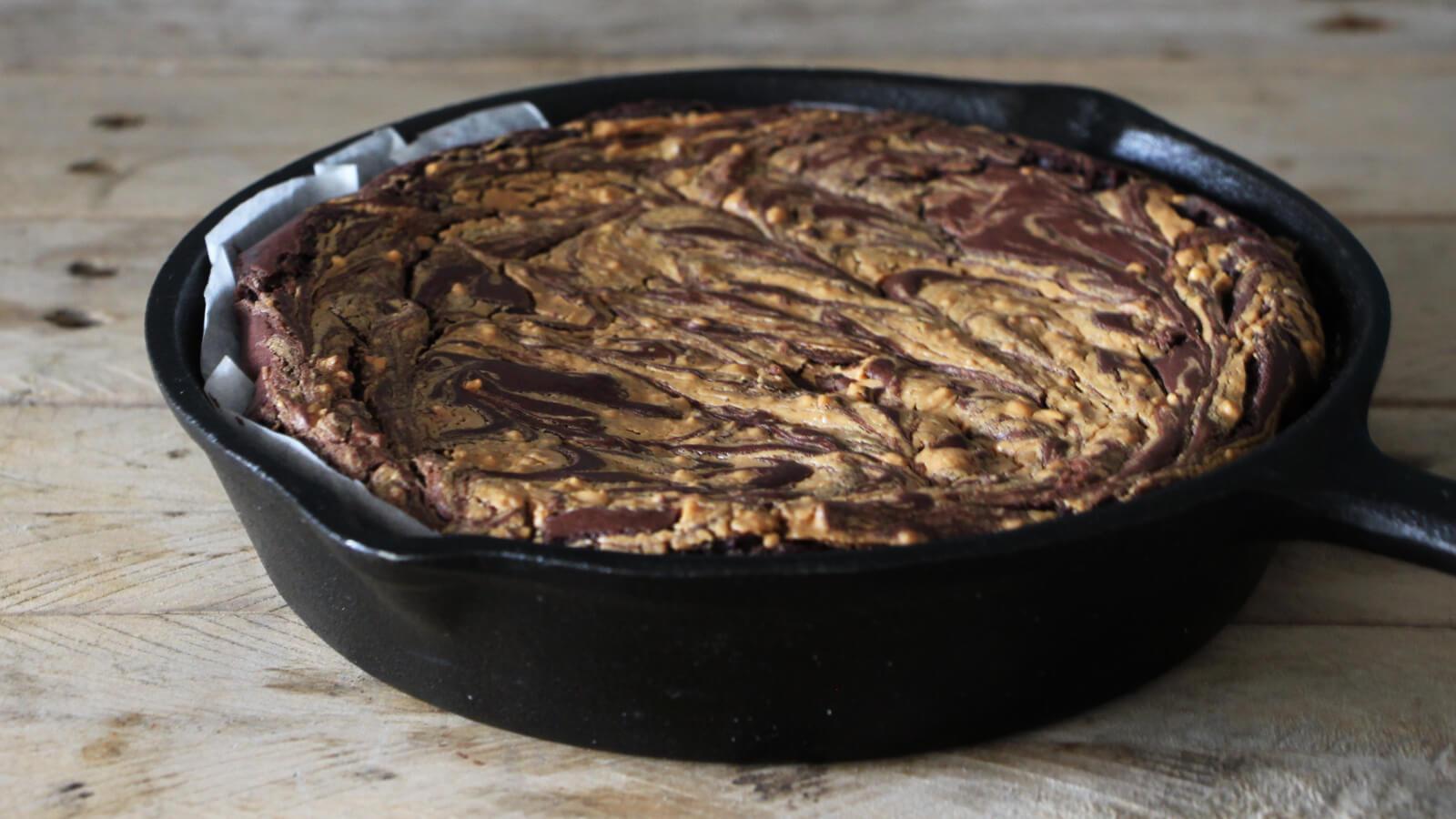 Brownie van de BBQ? ga voor deze variant met pindakaas!