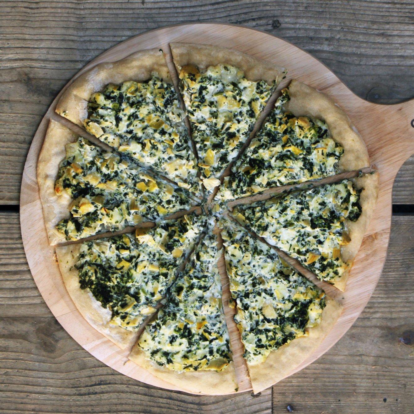 Spinazie & Artisjok Pizza