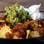 Mexicaanse Nacho's van de BBQ