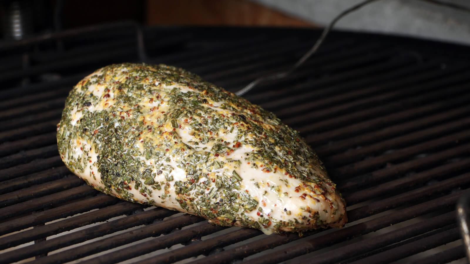 Fricandeau is een mooi en heerlijk stuk vlees, dat eenvoudig is te bereiden op de BBQ.