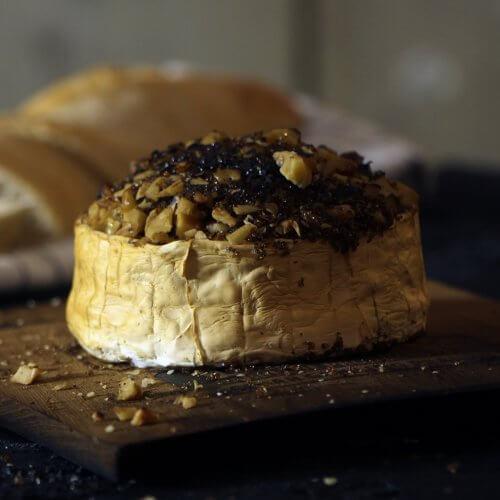 Gerookte Brie van de BBQ