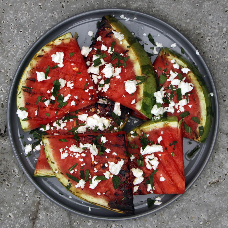 Gegrilde Watermeloen met Feta