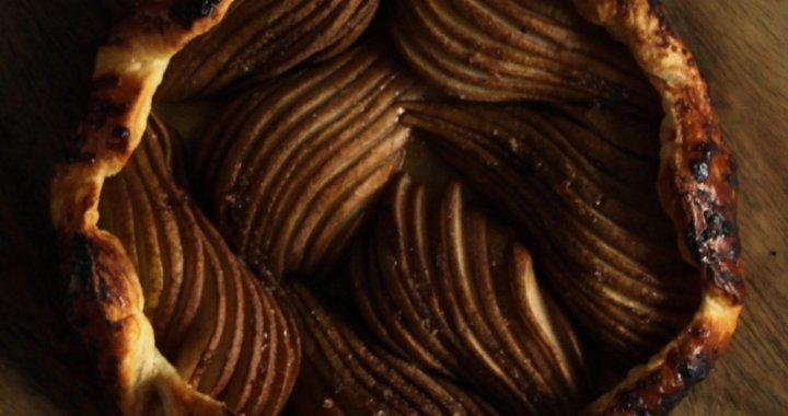 Peren galette van de BBQ