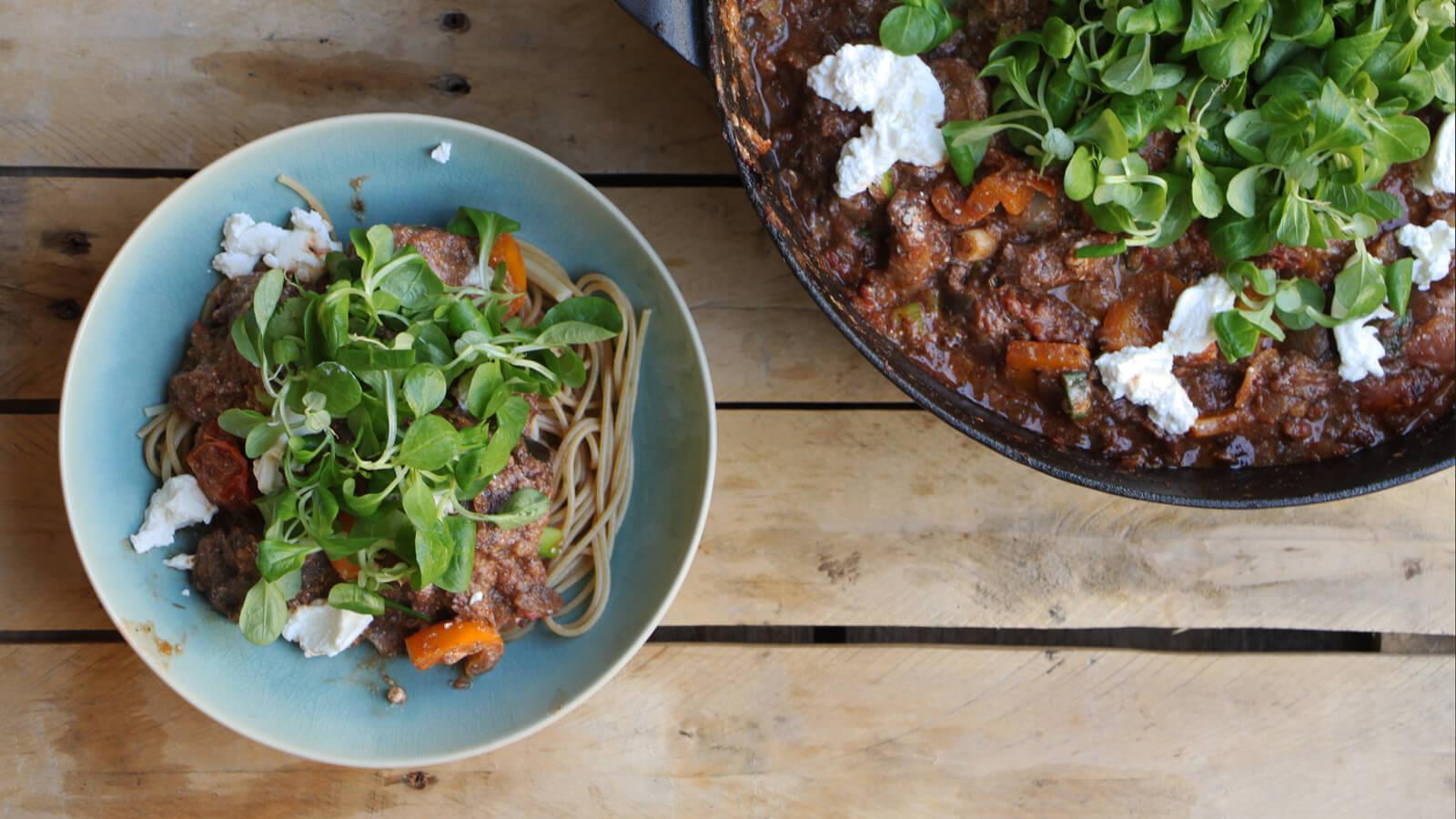 Stoven in de lente? Ga voor deze lente stoof met spaghetti en ricotta!