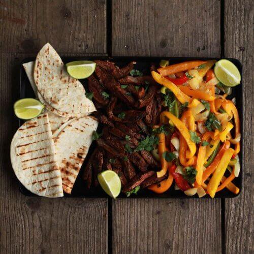 Fajiatas van de BBQ: in een handomdraai een volledige maaltijd van de BBQ!