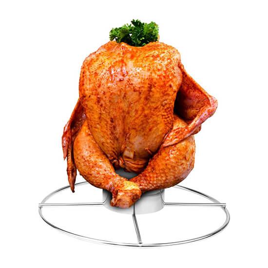 Een Beer Can Chicken maak je met een Chicken Sitter!