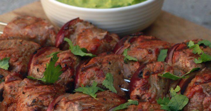 Biefstuk Kebabs van de BBQ