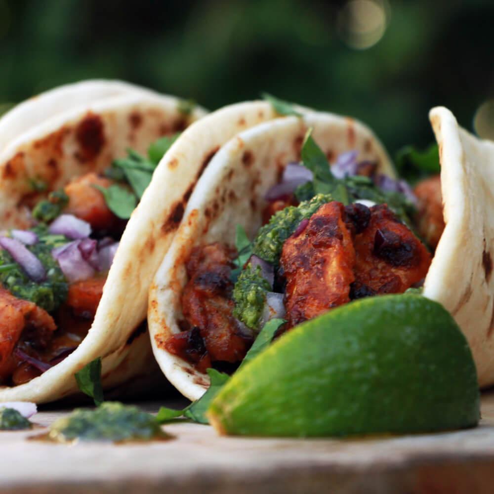Taco's al Pastor van de Rotisserie!