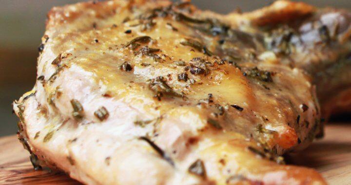 Parelhoen filets van de BBQ