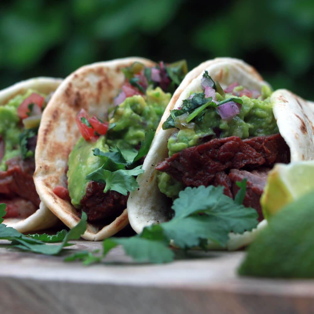 Taco's met gegrilde bavette