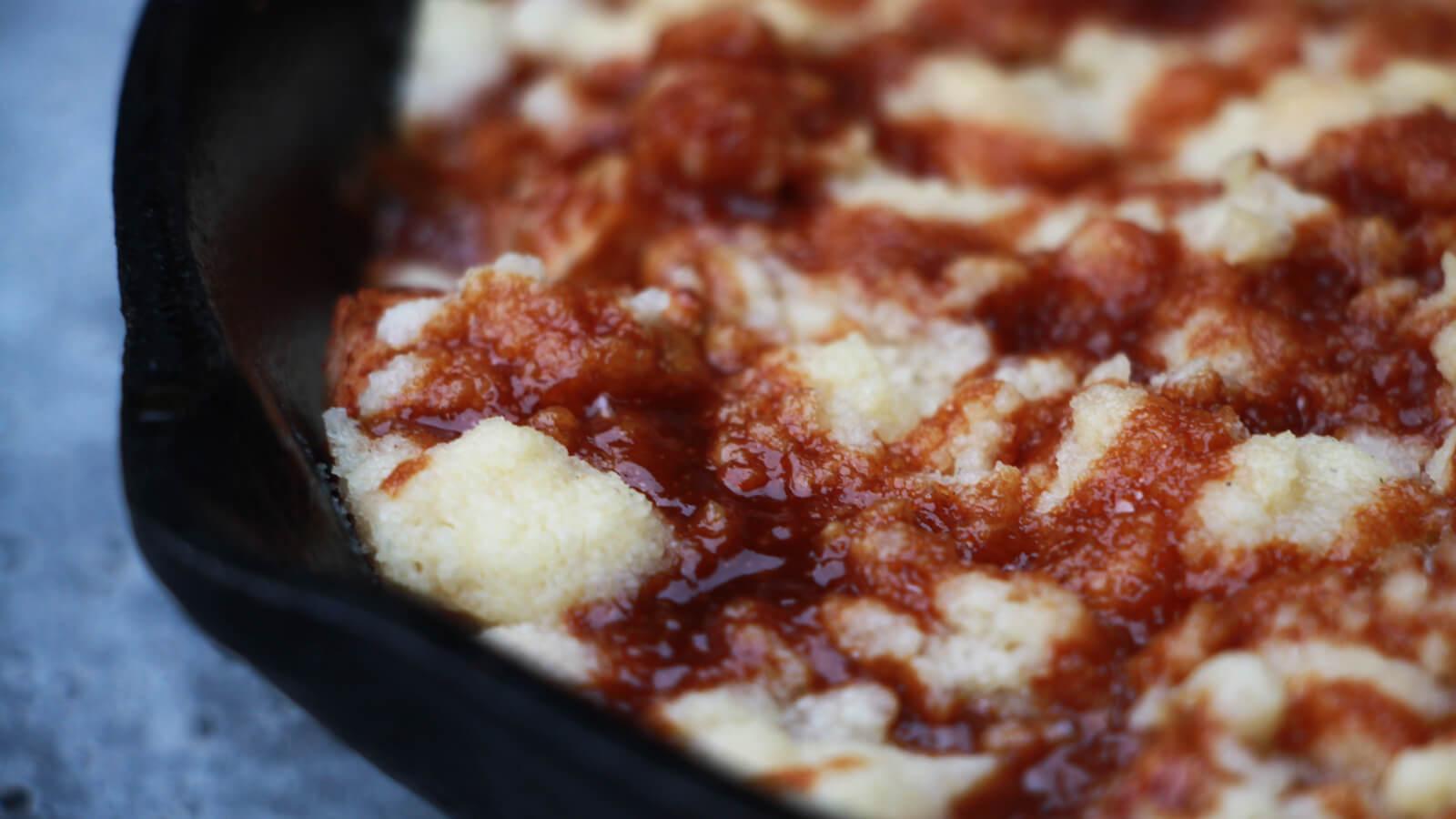 Gepofte Zoete Aardappelen met Pulled Chicken