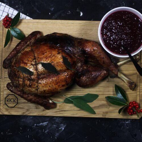 Kerst Kalkoen van de BBQ