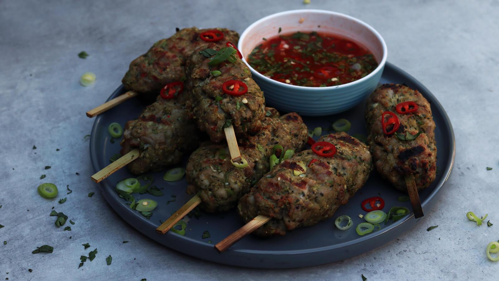 Vietnamese Varkens Spiesjes