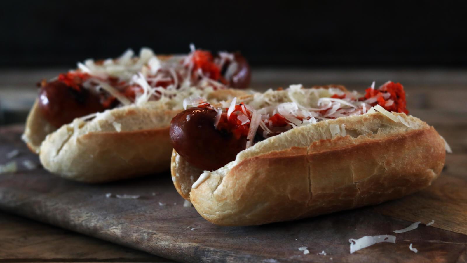 Spaanse Hotdogs met Merguez van Ree