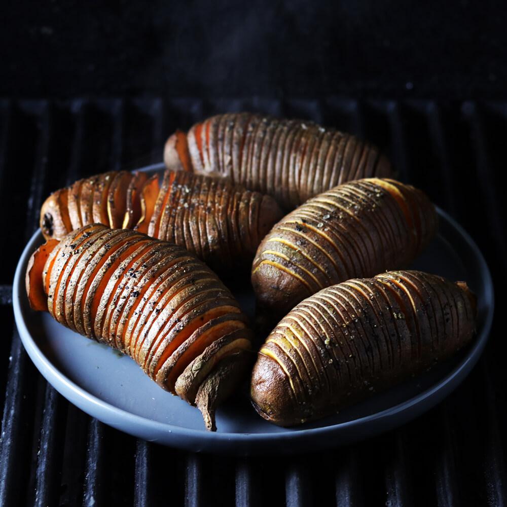Zoete Aardappel Hasselback Aardappelen